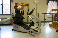 Nustep in therapy gym